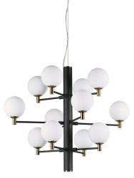 DESIGNERSKA LAMPA WISZĄCA COPERNICO SP12 IDEAL LUX CZARNA