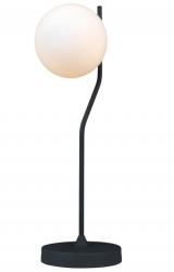 ITALUX CARIMI TB-3300-1-BK LAMPKA STOŁOWA NOCNA SZKLANA KULA CZARNA