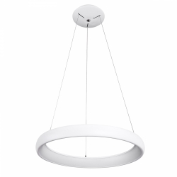 NOWOCZESNY LAMPA WISZĄCA LED OKRĄG KOŁO ITALUX ALESSIA 5280-850RP-WH-3 BIAŁA