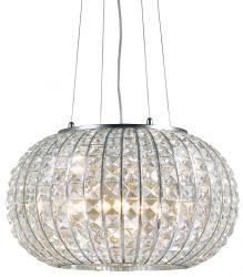 KRYSZTAŁOWA LAMPA WISZĄCA CALYPSO SP5 IDEAL LUX W SYLU GLAMOUR CHROM