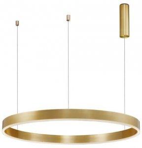ZŁOTA LAMPA WISZĄCA RING 100 LED NOWOCZESNA LAMPA DO SALONU ZŁOTE KOŁO