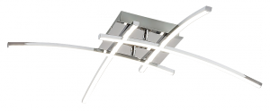 NOWOCZESNA LAMPA SUFITOWA PLAFON ALEXIS 2503 RABALUX CHROM