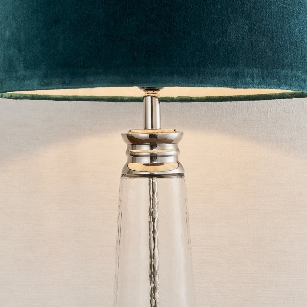ABAŻUROWA LAMPKA STOŁOWA WINSLET ENDON TURKUSOWA GLAMOUR