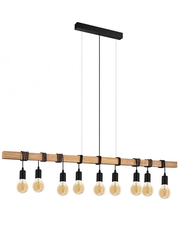 LAMPA SUFITOWA DREWNIANA BELKA EGLO TOWNSHEND 49744 LOFT VINTAGE
