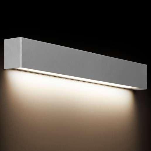 KINKIET LISTWA LED NAD LUSTRO STRAIGHT WALL LED 9613 METALOWA LISTWA SREBRNA  NOWODVORSKI