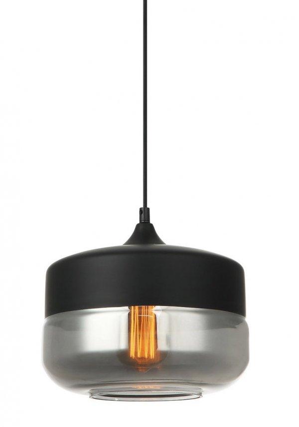 NOWOCZESNA LAMPA WISZĄCA ITALUX MOLINA MDM-2380/1 BK+SG CZARNA