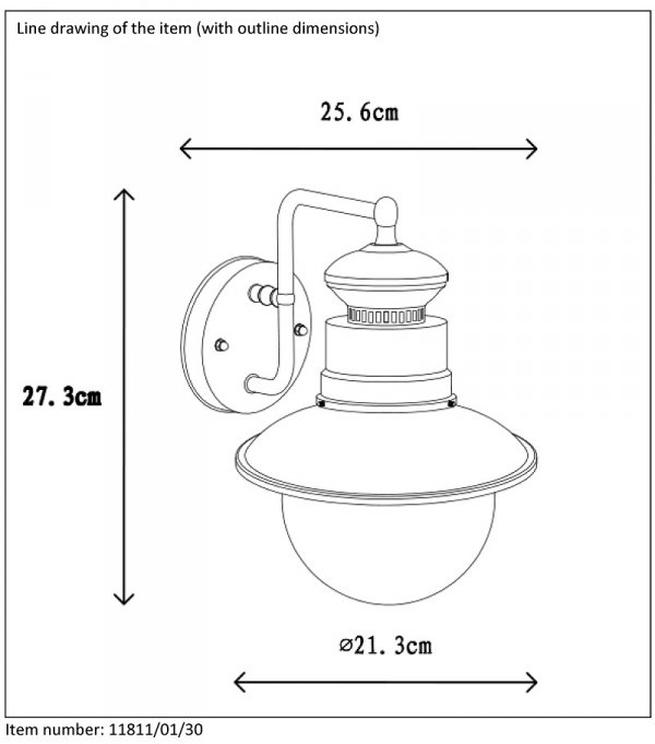 KINKIET ZEWNĘTRZNY OGRODOWY IP44 FIGO LUCIDE 11811/01/06
