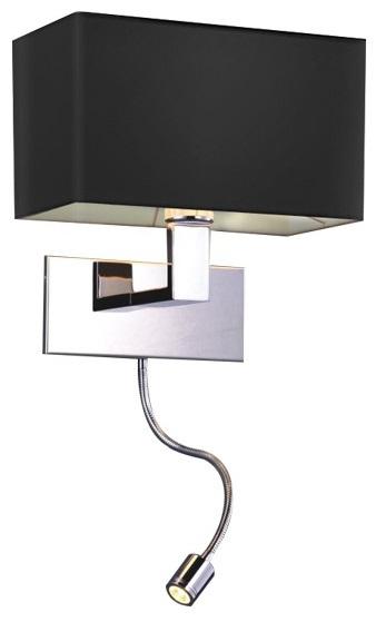 AZZARDO MARTENS WALL  MB2251-B-LED-R BK LAMPA ŚCIENNA KINKIET