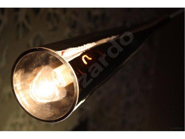CHROMOWANA LAMPA SUFITOWA WISZĄCA AZZARDO CHEMICAL AZ0998 NOWOCZESNA SZKLANA CHROM