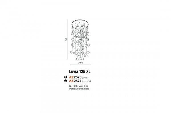 LAMPA SUFITOWA PLAFON ZŁOTE KULE AZZARDO LUVIA XL AZ3073