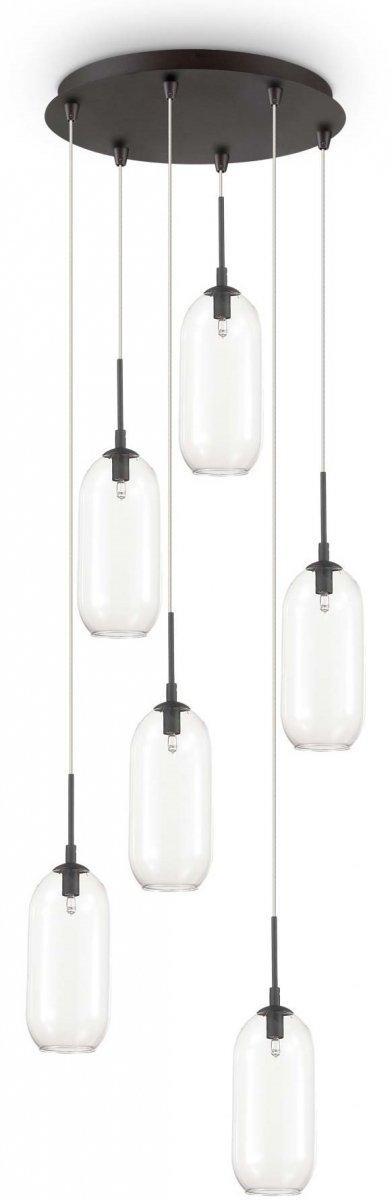 NOWOCZESNA LAMP WISZĄCA IDEAL LUX YOGA SP6 173023 LAMPA DO SALONU SZKLANE KLOSZE