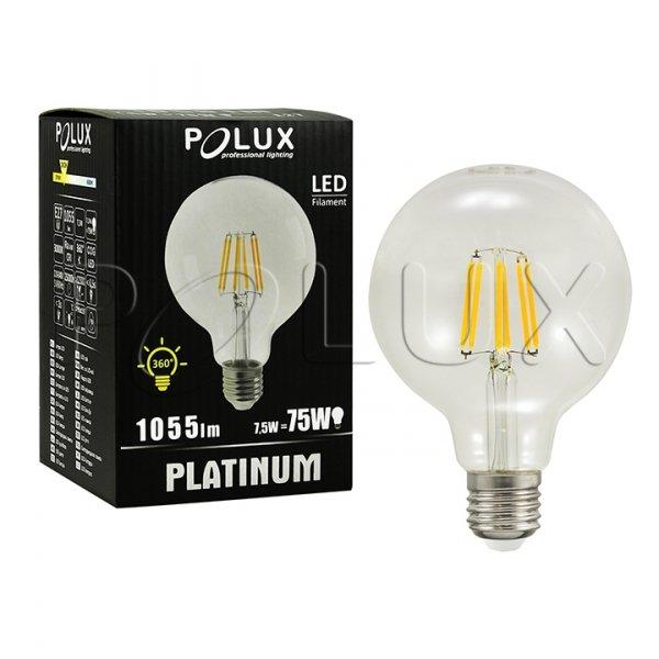 ŻARÓWKA DEKORACYJNA LED G95 E27 1055lm, 7,5W, 3000K FILAMENT