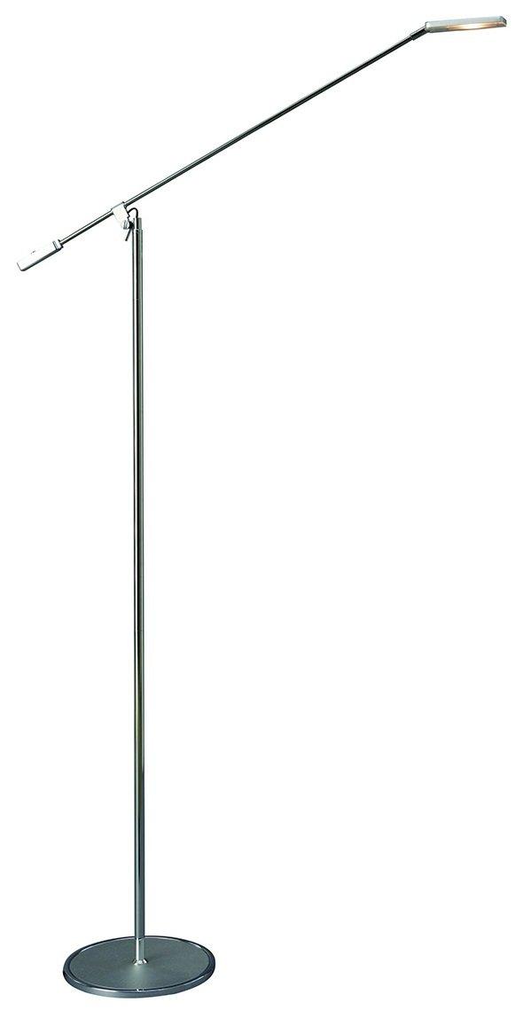 NOWOCZESNA MINIMALISTYCZNA LAMPA PODŁOGOWA LED SREBRNA ITALUX TIZIANA F0080A ANODIZING