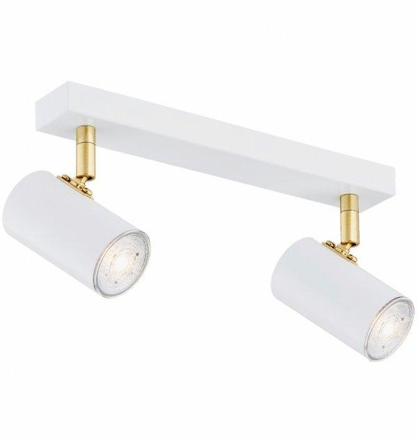 LAMPA SUFITOWA SPOT REFLEKTOR BIAŁO-ZLOTY GU10 ARGON LAGOS 890 KINKIET REGULOWANY