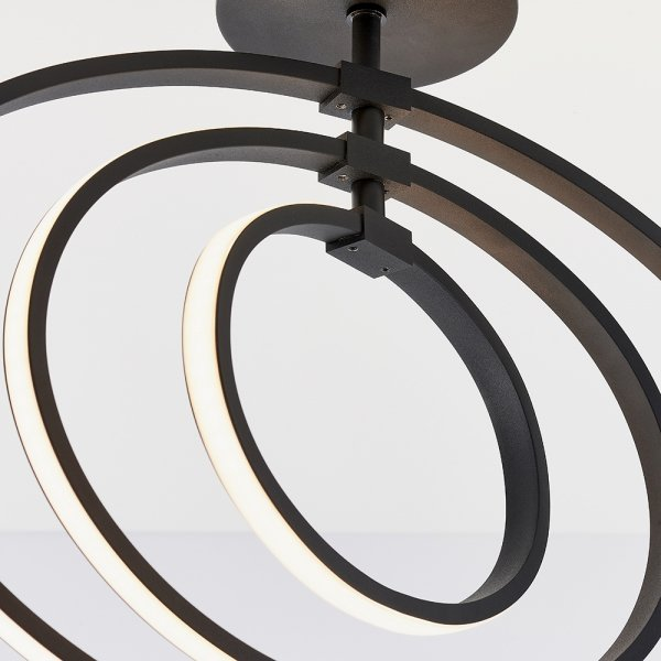 LAMPA SUFITOWA AVALI ENDON OKĄRŁA LED CHROMOWA NOWOCZESNA