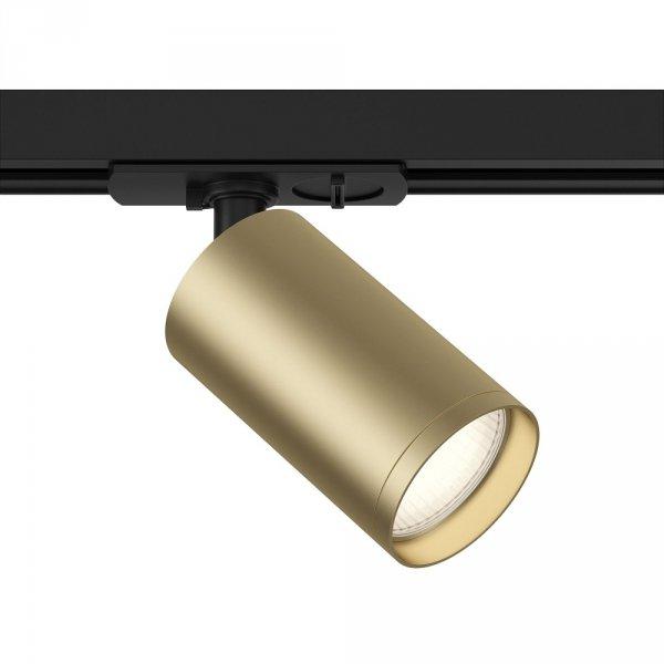 KOMPLETNY ZESTAW SZYNOPRZEWODU Z REFLEKTORKAMI GU10 ZŁOTY (2m szyny + 5szt. reflektorów) SYSTEM SZYNOWY 1-FAZOWY ZŁOTE REFLEKTORY
