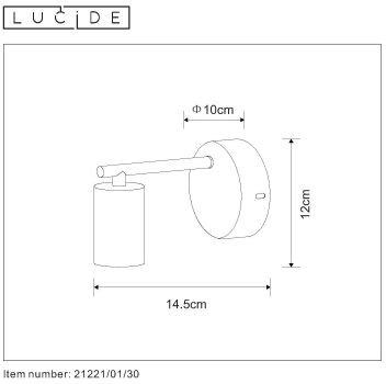 LOFTOWA LAMPA KINKIET LUCIDE LEANNE 21221/01/30