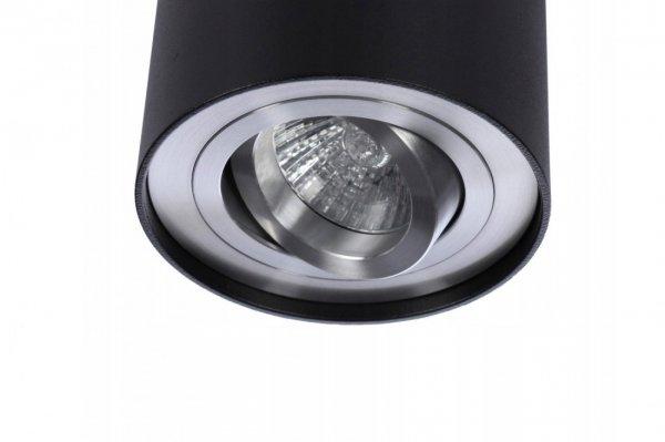 NOWOCZESNA LAMPA SUFITOWA TUBA CZARNA AZZARDO BROSS 1 BLACK