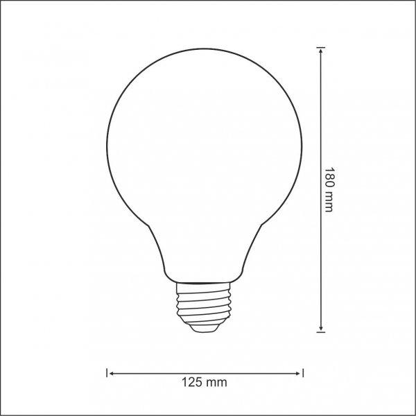 ŻARÓWKA DEKORACYJNA LED G125 VINTAGE AMBER E27 320lm, 4W, 2000K FILAMENT