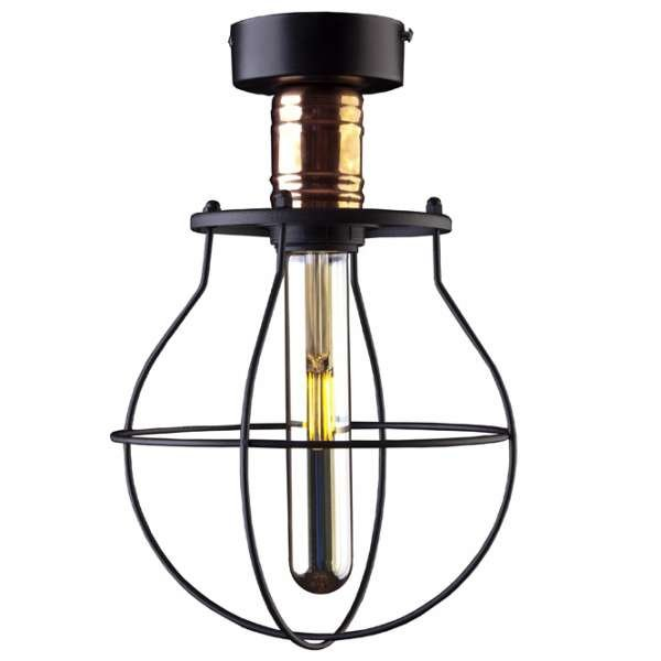 LAMPA SUFITOWA PLAFON NOWODVORSKI MANUFACTURE 9741 LOFT VINTAGE METALOWA CZARNA