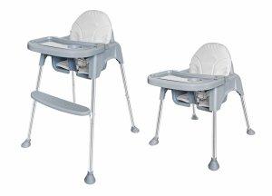 Krzesełko fotelik do karmienia 2w1 tacka pasy