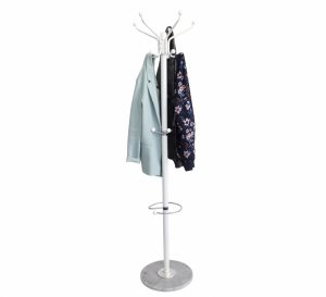 Stojak wieszak na ubrania odzież parasole marmur