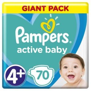 Pampers Zestaw pieluch Active Baby Giant Pack 4+ (10-15 kg); 70