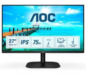 AOC 27B2H monitor komputerowy 68,6 cm (27) 1920 x 1080 px Full HD LED Czarny