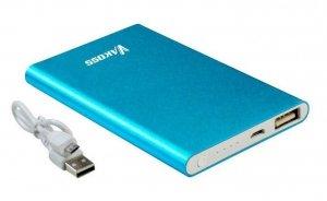 PowerBank VAKOSS TP-2574B (5000mAh; microUSB, USB 2.0; kolor niebieski)
