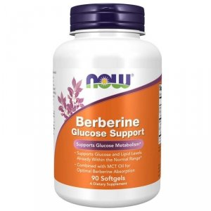 NOW FOODS Berberyna Glucose Support 90 kaps.