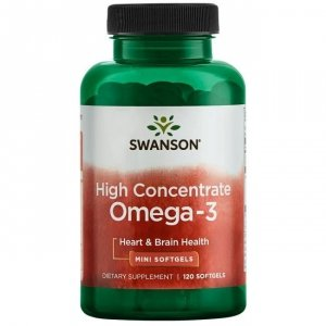 SWANSON Omega-3 High Concentrate 120 kaps.