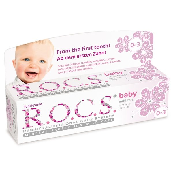 ROCS Baby Aromat Lipy - Pasta do zębów na ząbkowanie dla dzieci do 3 lat 35ml