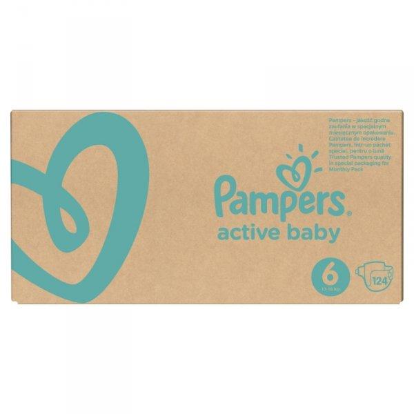 Pampers Zestaw pieluch Active Baby MTH Box 6 (13-18 kg); 124