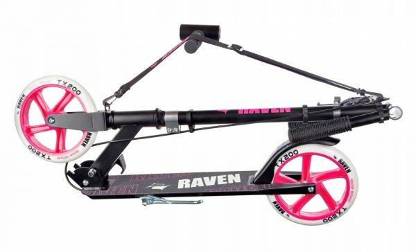 Hulajnoga Raven Straight Black/Pink z hamulcem