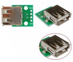 Gniazdo USB A do płytki prototypowej na pcb vbus GND