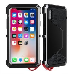 Pancerne Etui obudowa iPhone X Apple Gorilla GlaSS Czarna