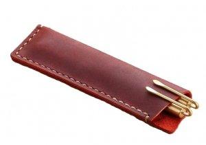 Skórzane etui piórnik na długopisy pióro