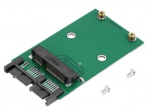 Adapter Micro Sata mSata 7+7+2 SSD 50mm pci-e