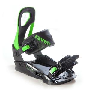 Wiązania snowboardowe Raven s200 (black / green) 2021