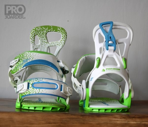 Wiązania snowboardowe Pathron Team ST (white/green/blue) 2020