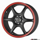 Tenzo-R DC-6 v1 Black/Red 18x8 5x100/114 ET45