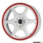 Tenzo-R DC-6 v1 White/Red 16x7 4x100/114 ET42