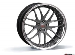 Breyton RACE GTR 11,5x22 5x120 Matt Gun Metal / Matt Black with stainless steel lip