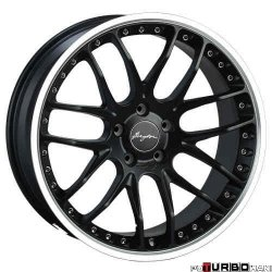 Breyton RACE GTP 8,5x19 5x120 Matt Gun Metal/ Matt Black with diamond polished lip