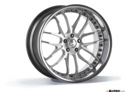 Breyton RACE GTR 9,0x22 5x120 Hyper Silver with stainless steel lip