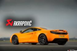 AKRAPOVIC Slip-On Line (Titanium) McLaren 12C / 12C SPIDER 2012-2014