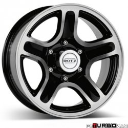 Dotz 4x4 Hammada dark Black/polished 7x15