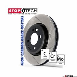 StopTech 126 Hi-Carbon Slotted tarcza hamulcowa BMW 126.34025SR