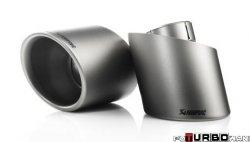 AKRAPOVIC Tail pipe set (Titanium) Fiat Abarth 500C/595C 2009-2014