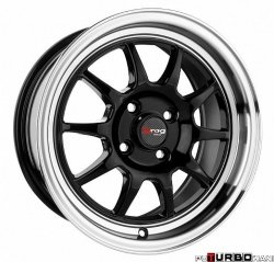 Drag Wheels DR16 Gloss Black 15x7 5x114,3 ET40
